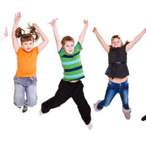 springende kinderen